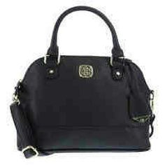 """Elegant Christian Siriano Purse Elegant black, leather type Delilah Dome Bag original bag by Christian Siriano. There's a 12"""" adjustable, detachable shoulder strap. The hand strap is 5"""". There are 2open pockets and 1 zipper pocket on the inside. Christian Siriano Bags Shoulder Bags"""