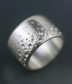 Jewelry | Jewellery | ジュエリー | Bijoux | Gioielli | Joyas | Rings | Bracelets | Necklaces | Earrings | Art | Sea Foam Wide Band Ring