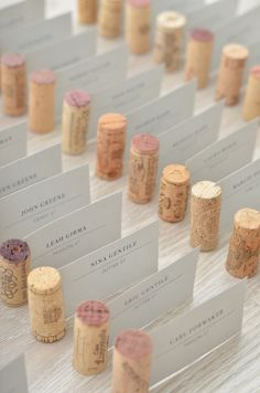 wine cork escort cards // thestylesafari.com                                                                                                                                                                                 もっと見る