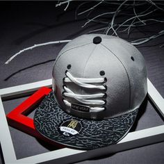 Summer Style Shoelace Decoration Casual Baseball Cap Harajuku Hiphop Hat  Gorras Casquette Snapback Hat Basketball Brand New 8db26dcd629
