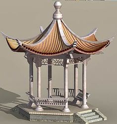 This really is tremendous what these individuals did with this particular layout and plan. What an extremely good concept for a Chinese Buildings, Ancient Chinese Architecture, Architecture Du Japon, Architecture Office, Futuristic Architecture, White Gazebo, Asian Lamps, China Garden, Garden Gazebo