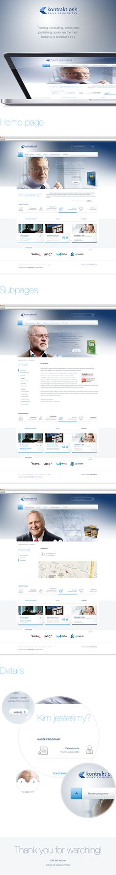 Kontrakt OSH by Michał Kubalczyk, via Behance#clean #corporate