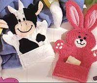 Washcloth hand puppets