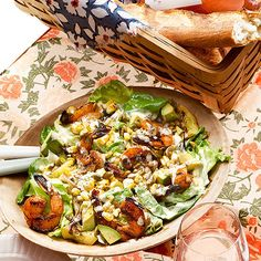 Grilled Shrimp Salad is perfect for an afternoon picnic in the park