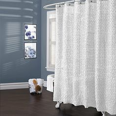 Lush Décor® Rosely White 72-Inch x 72-Inch Shower Curtain - BedBathandBeyond.com