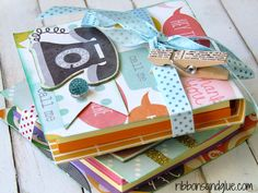 DIY Post It Note Holders - Ribbons & Glue