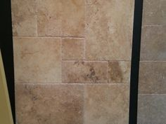 Country Roman French Pattern Brushed & Chiseled Travertine Tiles.