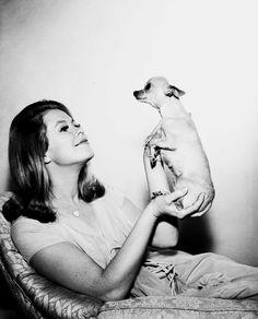 Elizabeth  Montgomery and friend c.1966