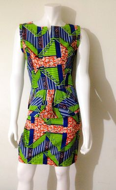 African Print 100% Vlisco African Print Peplum Dress by AGirlNamedGrey on Etsy