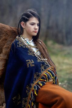 Ancient Latgalian girl from eleventh century