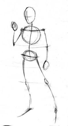 Fig: 1 Aqui estamos en la fase 1 : Nada apetecible. Una simple figura a base de lineas rapidas que nos servirá como pieza base. Observar q...