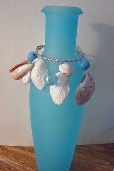 Bottle and seashell hanger tutorial
