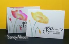 Sandy Allnock - Copic + stencils = chalking