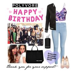 """""""Happy Birthday, Polyvore!"""" by polyvore ❤ liked on Polyvore featuring bkr, Ally Fashion, Semilla, LE3NO, women's clothing, women, female, woman, misses and juniors"""
