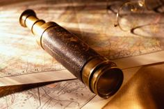 Framed Print - Nautical Map and Spyglass Telescope (Picture Poster Art Pirate) Elisabeth Swan, Storyboard, Moby Dick, The Grisha Trilogy, Treasure Planet, His Dark Materials, History Quotes, Black Sails, Pirate Life