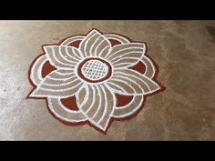 Free Hand Rangoli Design, Rangoli Border Designs, Rangoli Designs Diwali, Rangoli Designs With Dots, Rangoli Simple, Small Rangoli, Rangoli Borders, Rangoli Patterns, Paper Flowers Craft