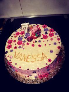 Peppa in flowers, raspberry cream and lots of dark and white chocolate