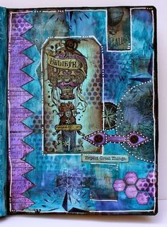 Journal Page {with Lynne Perrella & Hot Picks Stamps by Marjie Kemper} | PaperArtsy | Bloglovin'