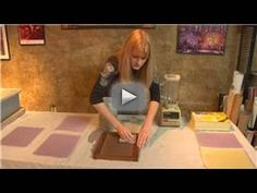 Making Handmade Paper : Handmade Paper Drying - To dry the pulp for handmade paper, flip the dackle onto a clean sheet and sponge off excess water. Learn how to dry your handmade paper with tips from a