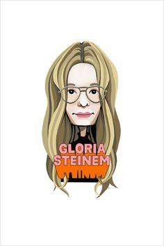 Gloria Steinem, 2018 Gloria Steinem, Pigment Ink, Limited Edition Prints, Watercolor Paper, Pure Products, Fine Art, Wall Art, Studio, Artist