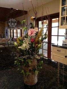 Beautiful barn wedding arrangement