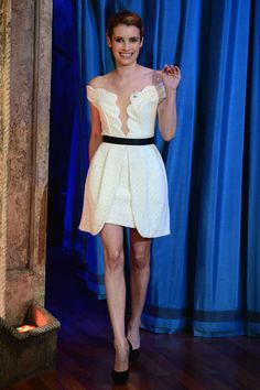 Emma Roberts wore a sweet dress by Three Floors for her appearance on Late Night with Jimmy Fallon. See more of this week's best dressed celebs here >>