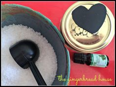 Make your own Bath Salts DIY. A lovely gift for Valentine's Day or Mother's Day!