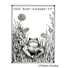 printable book plates | To get your Free Frog Bookplate click here-