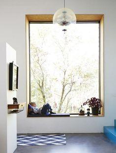 Oak framed picture window..