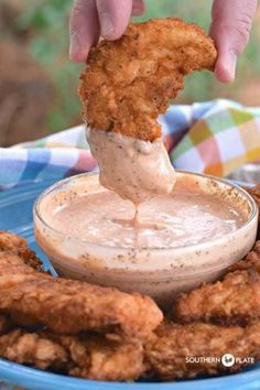 I posted this recipe back in 2009 but decided to post it again with updated (better) photos since I whipped up a batch this past weekend to go with our Ranch Fried Chicken Tenders. Comeback sauce has Ranch Fried Chicken, Fried Chicken Tenders, Fried Chicken Sauce, Fried Pickle Dipping Sauce, Fried Chicken Strips, Dipping Sauces For Chicken, Chicken Gravy, Spicy Sauce, Roasted Chicken