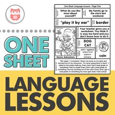 Looking for a no-prep material to use with your entire middle school or upper level caseload? This product targets: conversation skills, grammar (past tense verbs, verb agreement, pronouns), figurative language (idioms, hyperbole, similes, alliteration), vocabulary, compare/contrast, narratives, prefixes, suffixes, sequencing, inferences, story comprehension, problem solving, story development/creation, WH questions and more for speech therapy! #speechtherapyactivities #languagelessons…