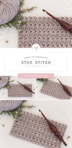 Learn how to crochet the star stitch with this easy to understand tutorial. Whether you're a freshman or are studying the basics of crochet, this free step-by-step video tutorial and a beginner-friendly written pattern make the. Crochet Stitches For Beginners, Beginner Crochet Projects, Crochet Stitches Patterns, Crochet Basics, Knitting For Beginners, Easy Knitting, Start Knitting, Bead Patterns, Mosaic Patterns