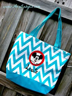 Disney Mickey Mouse Club Themed Embroidered Chevron by AvaBabyCo