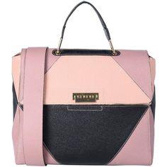 My Choice Handbag ($233) ❤ liked on Polyvore featuring bags, handbags, pastel pink, pink studded purse, pastel pink purse, pink hand bags, studded handbags and animal purse