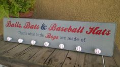 Balls, Bats, & Baseball Hats Hat Rack