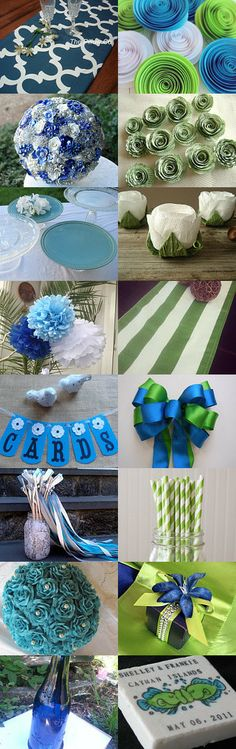 Blue & Green Wedding