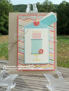 Stampin' Up! Sweetest Birthday Wishes ~ Crafty Shannon