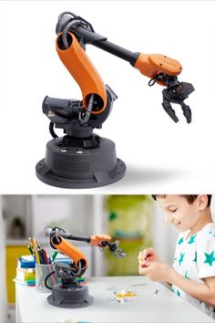 Wlkata Mirobot is a 6-axis #OpenSource mini-#industrial #robotic arm for #education purpose. Mirobot has been chosen by #TopRanked universities and schools in more than 40 countries. It provides an ideal robotic #learning platform for #HigherEducation, R&D laboratories, makers and #professional training users. #HowToBePositive Industrial Robotic Arm, Industrial Robots, Stem Courses, Arduino Laser, Robotics Competition, Open Source Code, Young Engineers, Engineering Plastics, Robot Arm