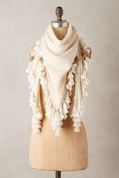 45313d2ae80 Mimbres Iguazu Scarf  anthropologie  scarf  ivory  fashion  fringe Types Of  Fashion