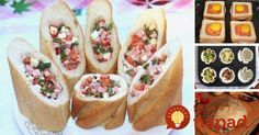 Zabudnite na obyčajné obložené chlebíky. Prinášame vám výborné tipy ako pripraviť z obyčajného pečiva neobyčajne chutné pohostenie.