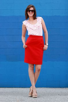 What I Wore is my favorite style blog.  I just love this matching outfit.