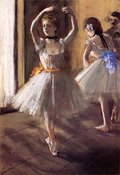 Two Dancers in the Studio (Dance School), 1875 Edgar Degas - by style - Impressionism