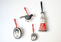 Frida ornament set by mikodesign.