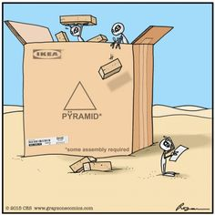 So this is how pyramids were built.