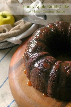 Honey Apple Bundt Cake with Honey Caramel Sauce - The Kitchen Prep BlogEmailFacebookInstagramPinterestRSSTwitter