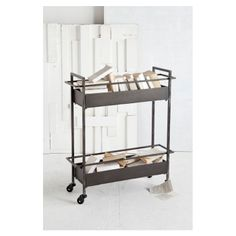 "Bradshaw Cart :: $154.95, Retail $375 | Joss & Main :: [35""H x 32""W x 10""D] Metal in dark brown. Caster wheels. Two baskets. Rustic finish. :: Dangit! I bought this same cart on HauteLook a while back, but I paid $24 more! GRRR! Great price, snap this puppy up here!"