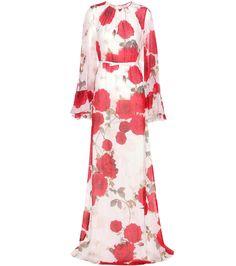 mytheresa.com - Floral-Printed Silk Dress » Giambattista Valli - mytheresa - Luxury Fashion for Women / Designer clothing, shoes, bags
