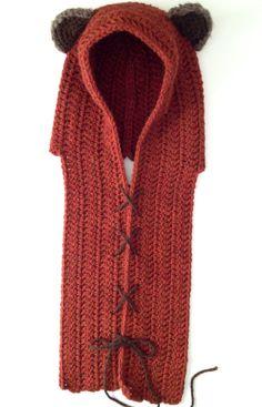 Yup. Gonna learn to crochet now. : Ewok Hood Crochet