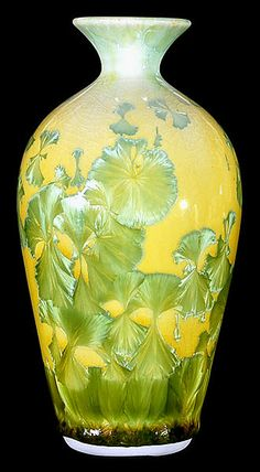 William Melstrom Studio: Uranium Oxide Yellow Glaze