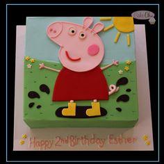 Peppa Pig Birthday Cake by Cake-Oh, Flagstaff Hill, South Australia. Peppa Pig Birthday Cake, Birthday Cake Girls, 4th Birthday Parties, Birthday Fun, Themed Parties, Happy Birthday To Ya, Aaliyah Birthday, Aniversario Peppa Pig, Cumple Peppa Pig